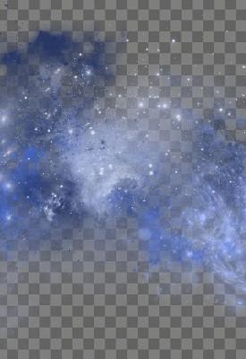 藍色創意粉狀噴霧星空免摳圖