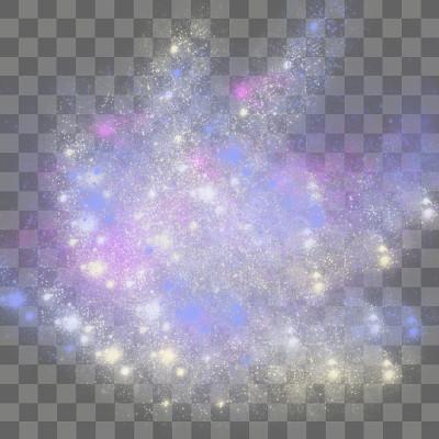 彩色圓點白點星空免摳圖