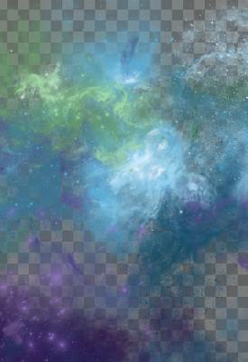 藍色噴霧煙霧狀星空免摳圖