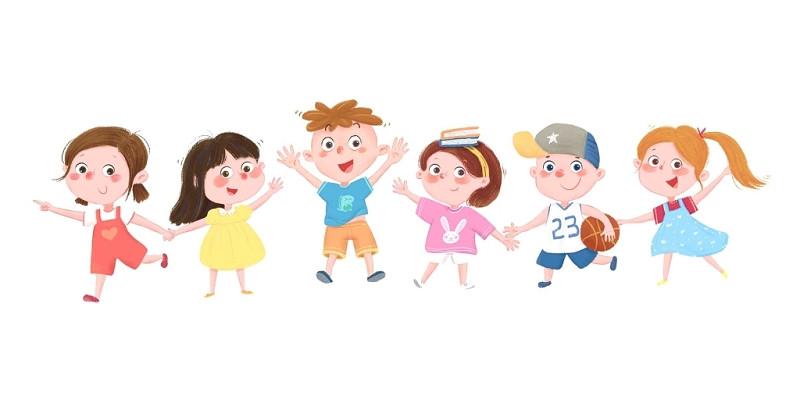 小人文明校園開學季兒童開學素材