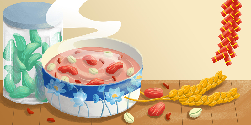 中國風臘八粥和臘八蒜臘八節背景海報素材