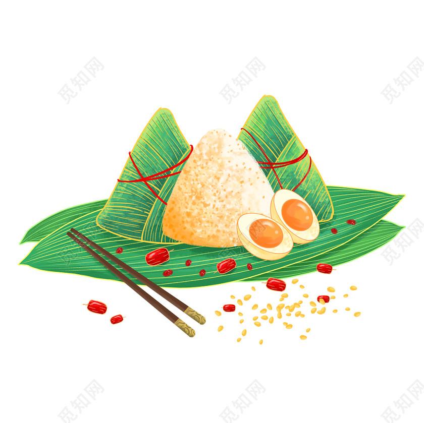 國潮風端午節端午粽子元素