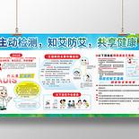 藍色主動檢測知艾防艾世界艾滋病日AIDS健康教育宣傳欄展板