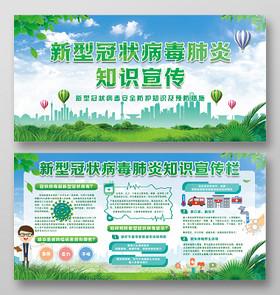 2020湖北武漢預防新型冠狀肺炎感染知識科普展板宣傳欄