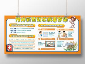 2020湖北武漢預防治感染新型冠狀肺炎感染展板宣傳欄