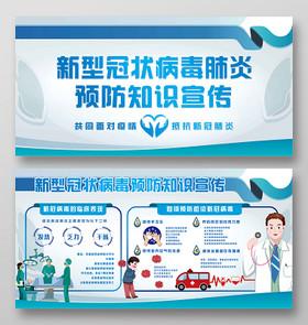湖北武漢預防治感染新型冠狀肺炎展板宣傳欄