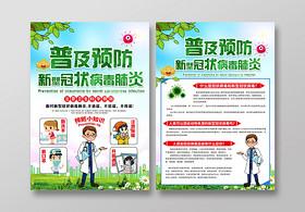復工新型冠狀病毒肺炎2020疫情病毒傳染病預防知識宣傳單封面設計新型冠狀病毒肺炎病毒抗擊疫情