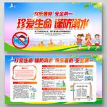 紅色珍愛生命謹防溺水歡樂暑假安全第一暑期防溺水宣傳展板