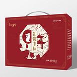 暗紅色大氣中國風禮悅中秋中秋禮品月餅包裝手提盒設計中秋節包裝