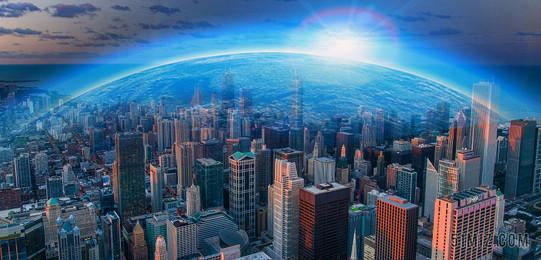 商務城市科技發展建筑圖片