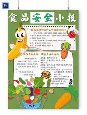 校園教育食品安全小報手抄報
