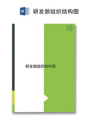 綠白拼接簡約企業組織架構word模板