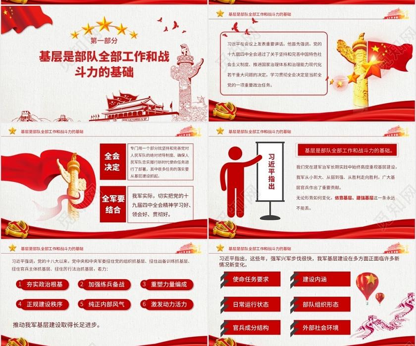 紅色黨建中央軍委會議精神培訓PPT模板黨課黨務黨政PPT