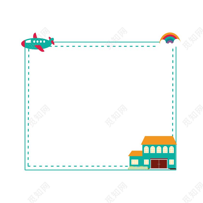 小报边框背景素材_手绘边框手账边框元素绿色图框花边边框小报边框图片素材免费 ...