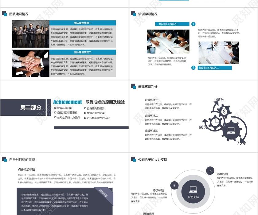 采购内勤月工作总结_2020工作计划清新工作总结汇报产品介绍宣传PPT模板下载 - 觅知网